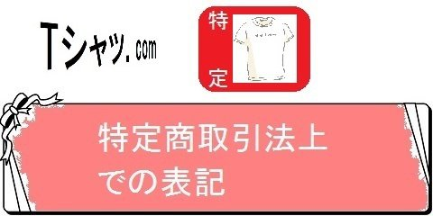 オリジナルTシャツの通販サイトレディーS・特定取引法上での表記(カテゴリ)画像